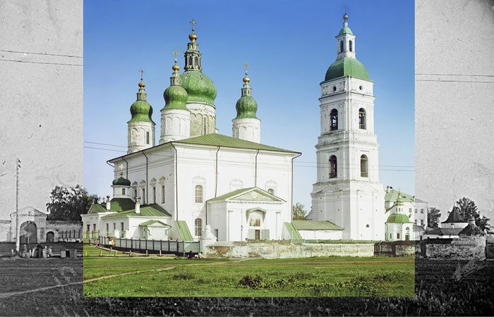 Assumption Cathedral in the city of Tobolsk from the west